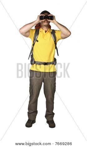 Man With Black Binoculars