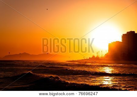 Sunset in Barra da Tijuca Beach