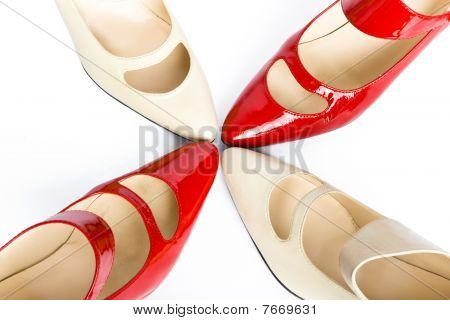 Two pairs new elegant ladies' shoes