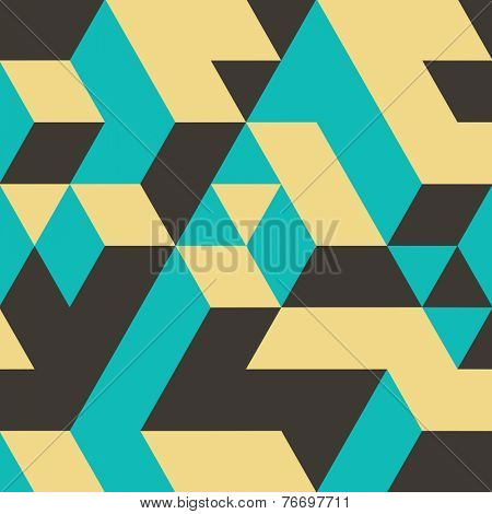 Abstract 3d background. Wall of cubes. Vector illustration.