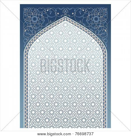 Vector illustration of a window in islamic style