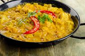 foto of curry chicken  - Indian Chicken curry in a bowl - JPG
