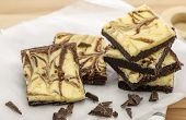 picture of brownie  - Homemade cake Cheesecake brownies over wooden table - JPG