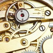 ������, ������: Brass Mechanical Clockwork Of Retro Watch