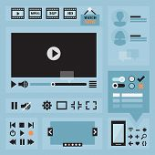 stock photo of controller  - Flat UI design elements set for web and mobile  - JPG
