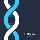 picture of dna  - scientific background with symbol of dna - JPG