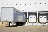 foto of oversize load  - Loading docks in the city industrial area - JPG
