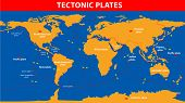 stock photo of lithosphere  - Plate tectonics - JPG