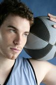 Basketball Young Man Basket Player Portrait