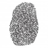 picture of dash  - Black Dashed Line High Detailed Finger Print - JPG