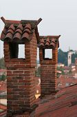 picture of vicenza  - View of typical roofs of some houses in Vicenza - JPG
