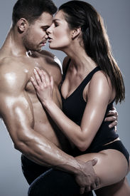 image of macho man  - Passionate couple - JPG
