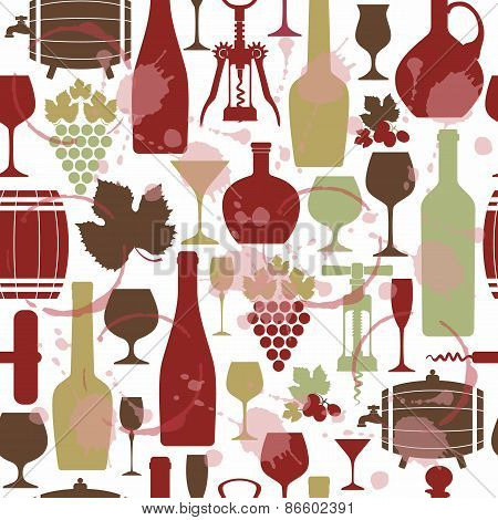Vector Stock wine pattern