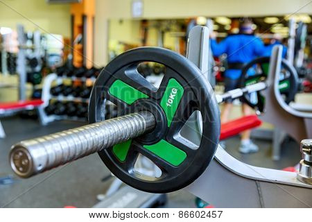 Barbell Holder In Gym