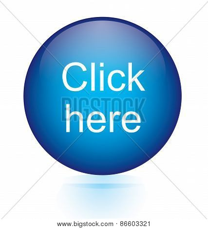 Click here blue circular button