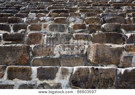 Mexico Oaxaca Monte Alban Pyramide Steps Texture