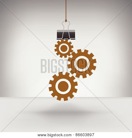 Gears Hung by a Binder Clip