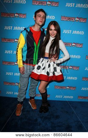 LOS ANGELES - MAR 26:  Sterling Beaumon, Kelli Berglund at the Just Jared's Throwback Thursday Party at the Moonlight Rollerway on March 26, 2015 in Glendale, CA