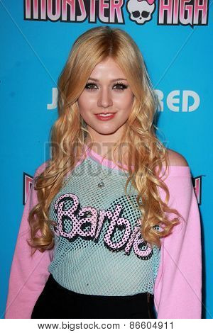LOS ANGELES - MAR 26:  Katherine McNamara at the Just Jared's Throwback Thursday Party at the Moonlight Rollerway on March 26, 2015 in Glendale, CA