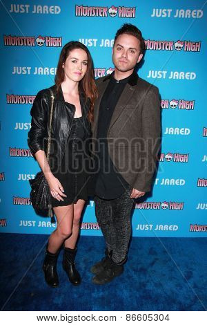LOS ANGELES - MAR 26:  Nikita Ramsey, Thomas Dekker at the Just Jared's Throwback Thursday Party at the Moonlight Rollerway on March 26, 2015 in Glendale, CA