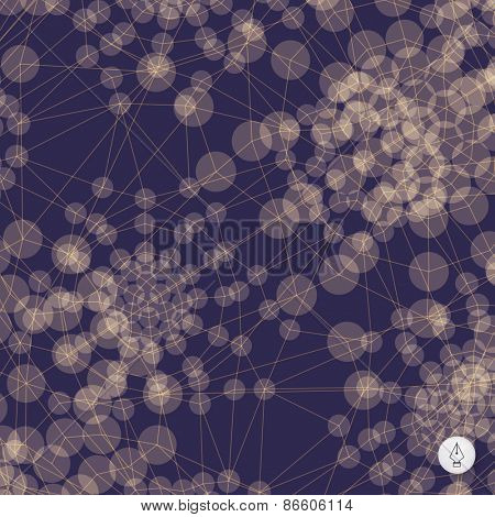 Abstract grid background. 3d technology vector illustration. Can be used for banner, flyer, book cover, poster, web banners.