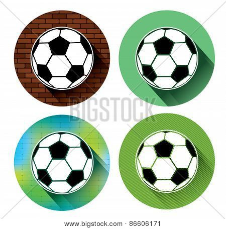 Soccer ball icons set