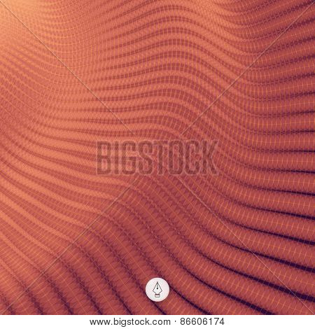Network abstract background. 3d technology vector illustration. Can be used for banner, flyer, book cover, poster, web banners.