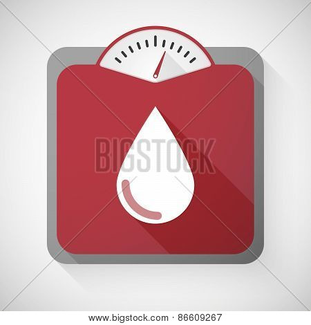Weight Scale With A Blood Drop