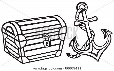 Chest and anchor