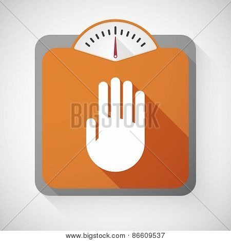 Weight Scale With A Hand