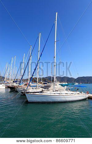 Gocek Marina In Aegean Coast Of Turkey