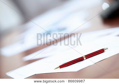 Business Papers On The Table