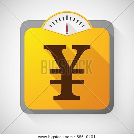 Weight Scale With A Yen Sign