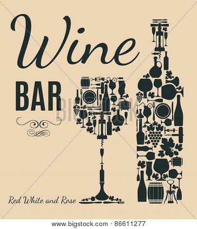 Retro wine card