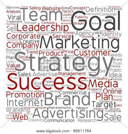 Vector concept or conceptual leadership marketing or business te