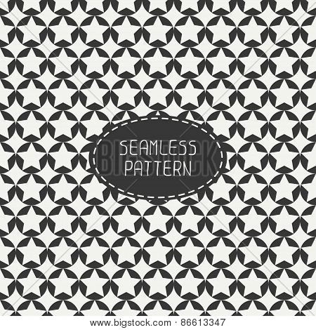 Geometric seamless pattern with stars. Wrapping paper. Paper for scrapbook. Tiling. Beautiful vector