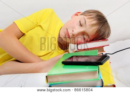 Teenager Sleep With A Books