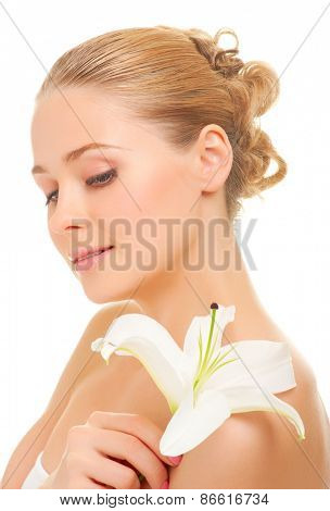 Young smiling woman isolated on white