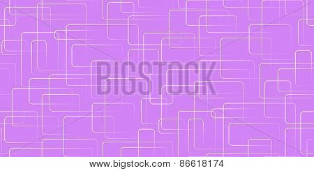 Vector Seamless Background. White Rectangles In A Mess On Purple