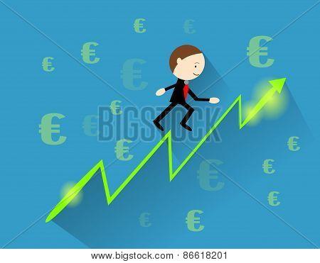 Profit Curve With Businessman