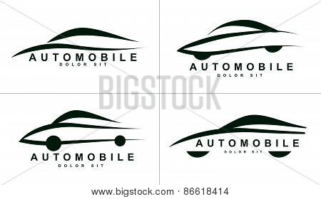 Abstract Shapes Logo Icon For Car Or Automobile