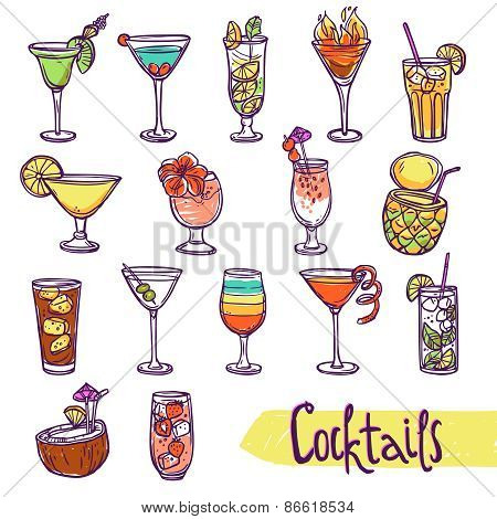 Cocktail Sketch Set