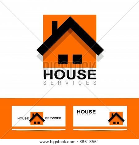 Real Estate House Orange Logo