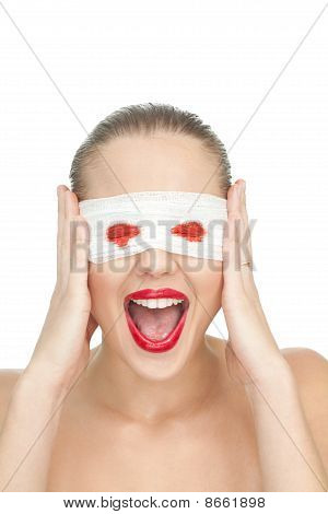 Blind Woman Screaming