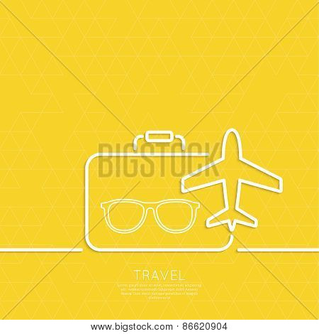 Icon airplane and suitcase.
