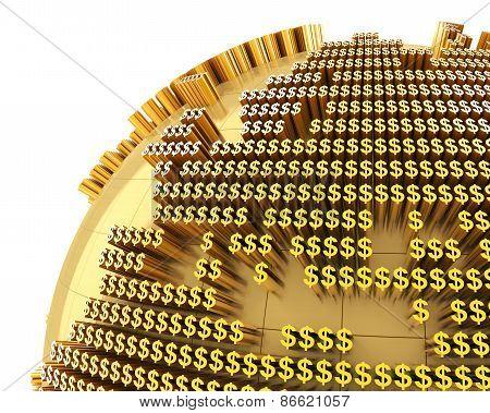 Money world, close-up on Europe