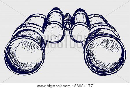 Binoculars sketch