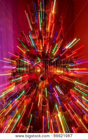 Blured Smas Tree