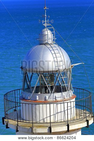 Lighthouse, Mediterranean sea, Peniscola, Valencian Community, Spain