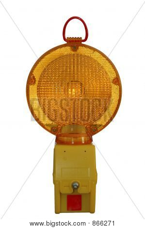 Roadworks warning lantern (with clipping path)